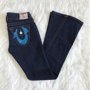 True religion jeans Joey blue foil pockets size 28
